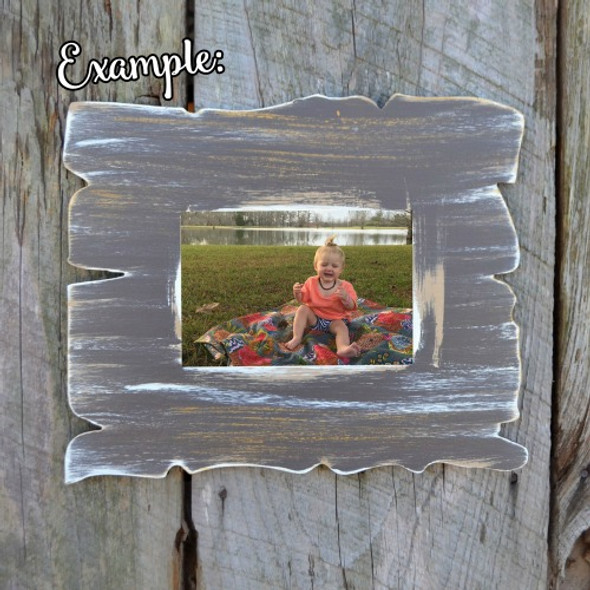 Unfinished Whimsical Picture Frame Wooden Paintable Drift Wood