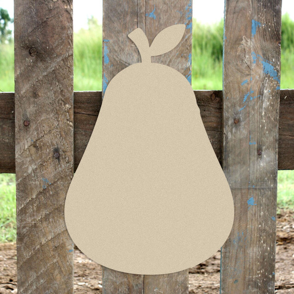 Pear Unfinished Cutout Paintable Wooden MDF