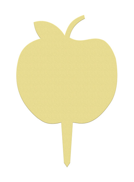 Unfinished outdoor DIY wooden yard art pattern apple sign