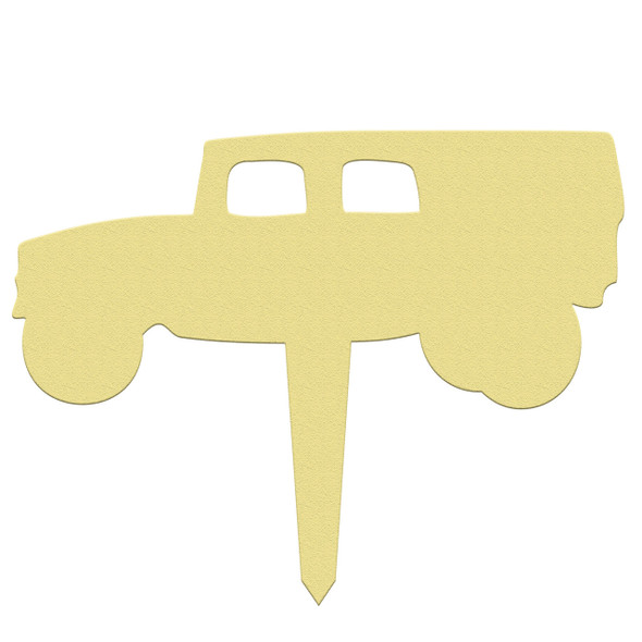 Unfinished outdoor DIY wooden yard art pattern army hummer sign
