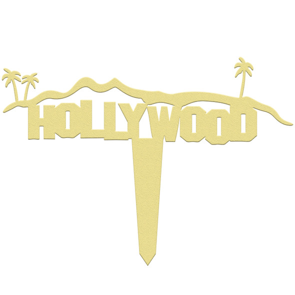 Unfinished outdoor DIY wooden yard art pattern Hollywood Hills sign