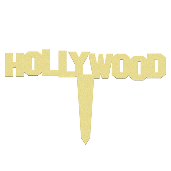 Unfinished outdoor DIY wooden yard art pattern hollywood sign
