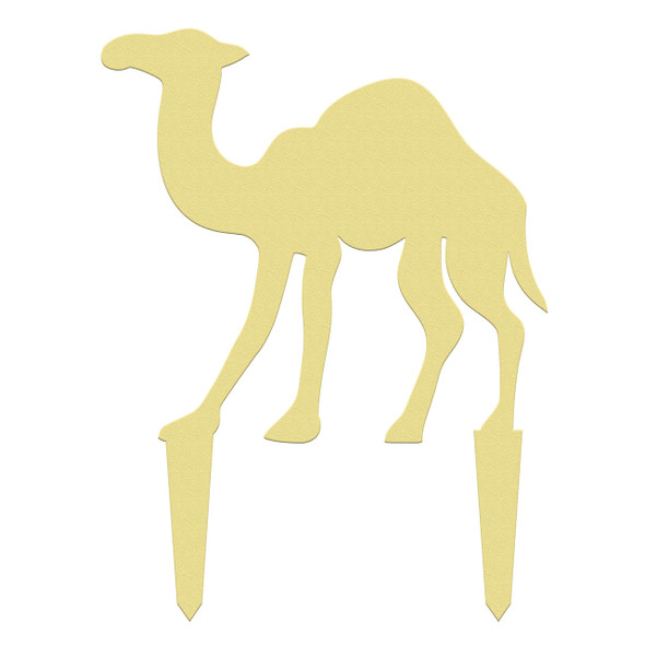 Unfinished outdoor DIY wooden yard art pattern nativity camel sign