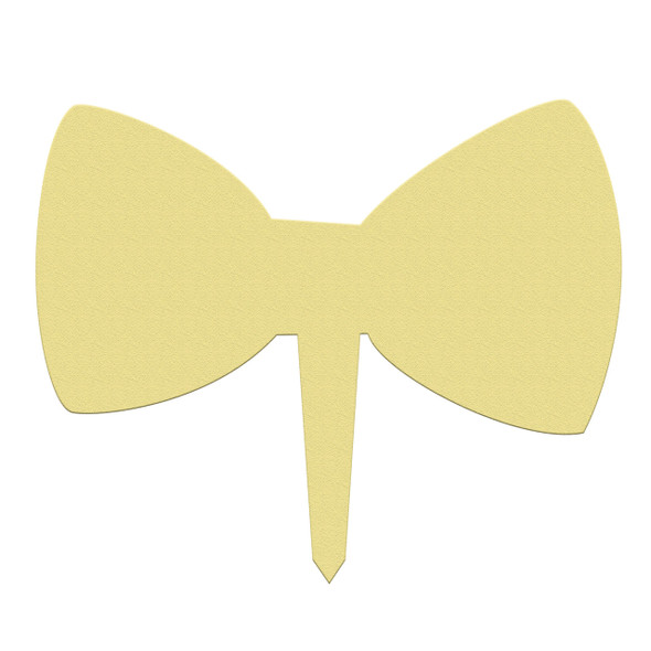 Unfinished outdoor DIY wooden yard art pattern bow tie sign