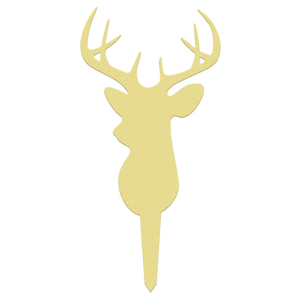 Unfinished outdoor DIY wooden yard art pattern 8 point buck sign