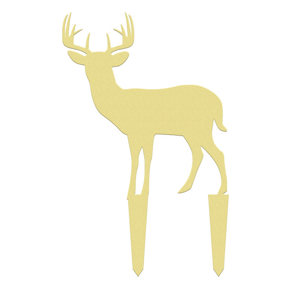 Unfinished outdoor DIY wooden yard art pattern 10 point buck sign