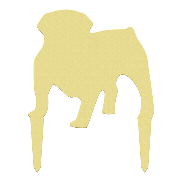 Unfinished outdoor DIY wooden yard art pattern bulldog sign