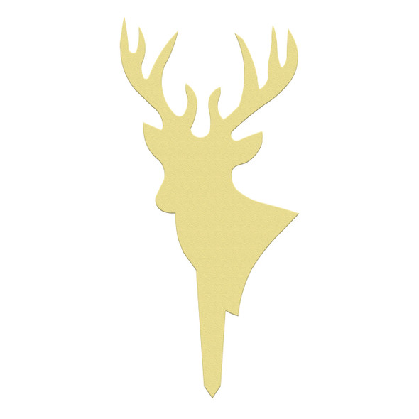 Unfinished outdoor DIY wooden yard art pattern deer sign