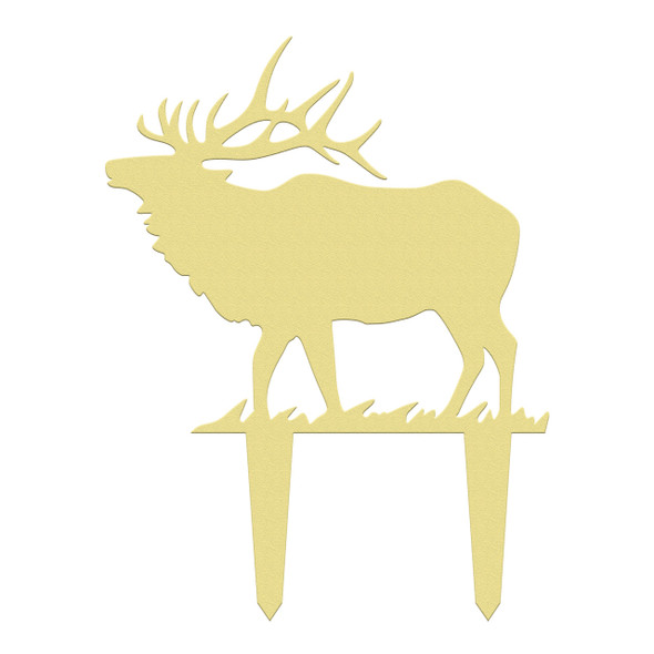 Unfinished outdoor DIY wooden yard art pattern elk sign