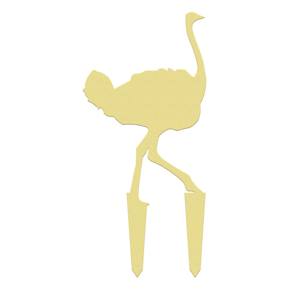 Unfinished outdoor DIY wooden yard art pattern Ostrich sign