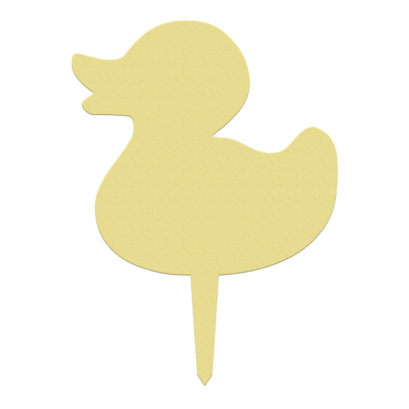 Unfinished outdoor DIY wooden yard art pattern rubber duck sign