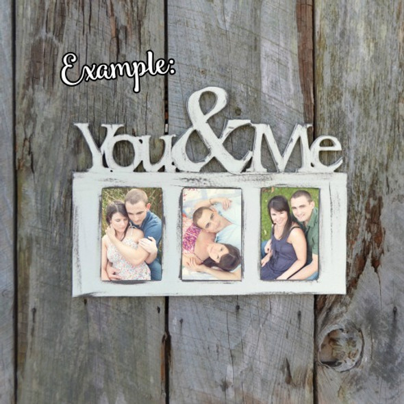 You and Me Photo Picture Frame Unfinished, DIY