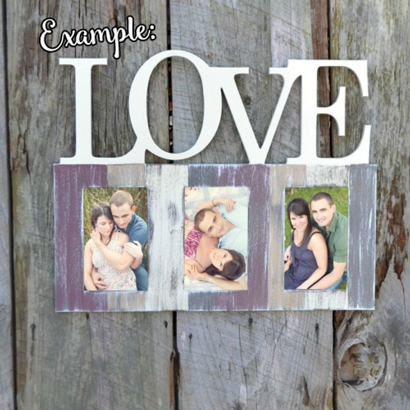 Love Photo Picture Frame Unfinished, DIY
