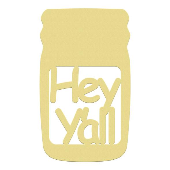 Mason Jar Frame Hey Yall, Letter Frame Wooden Unfinished  DIY Craft
