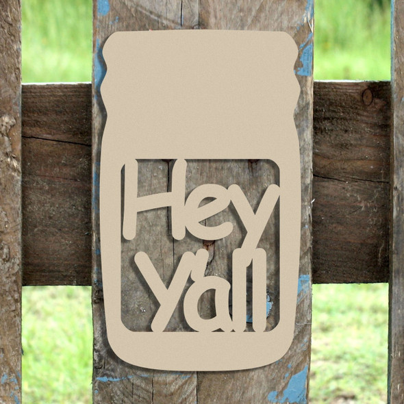 Mason Jar Frame Hey Yall, Letter Frame Wooden Unfinished  DIY Craft