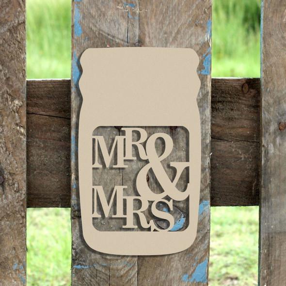 Mason Jar Frame MR&MRS, Letter Frame Wooden Unfinished  DIY Craft