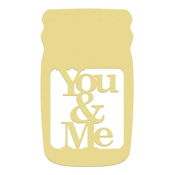 Mason Jar Frame YOU&ME, Letter Frame Wooden Unfinished  DIY Craft