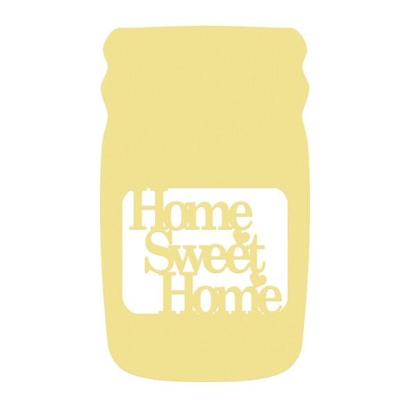 Mason Jar Frame Home Sweet Home, Letter Frame Wooden Unfinished