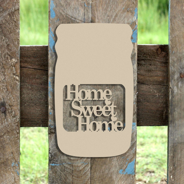 Mason Jar Frame Home Sweet Home, Letter Frame Wooden Unfinished