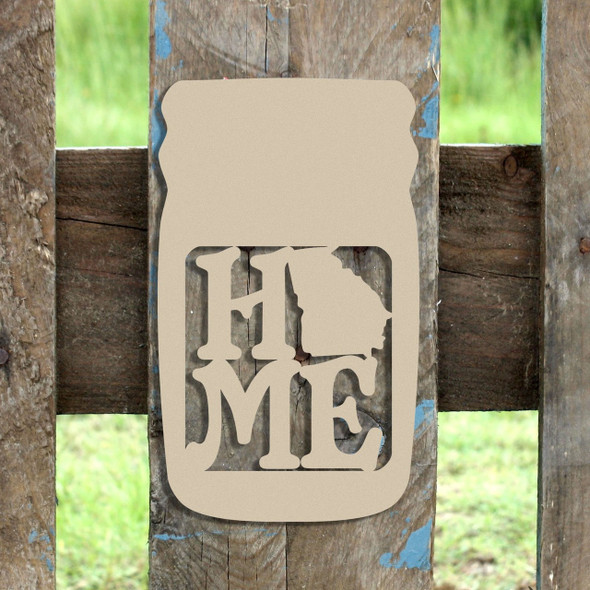 Mason Jar Frame Home State, Letter Frame Wooden Unfinished DIY Craft