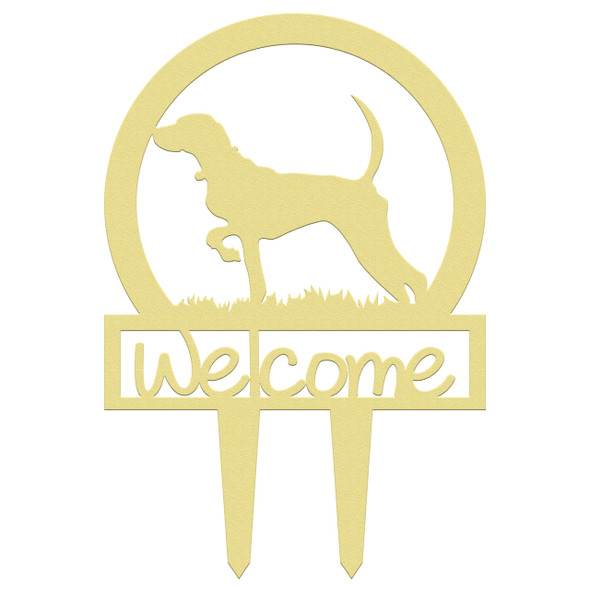 Unfinished outdoor welcome DIY wooden yard art pattern bird dog sportsman sign