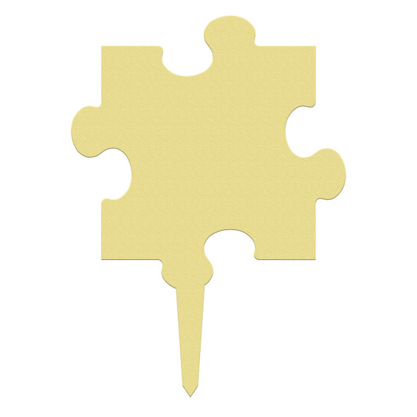 Unfinished outdoor DIY wooden yard art pattern puzzle piece sign