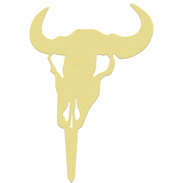 Unfinished outdoor DIY wooden yard art pattern cow skull sign