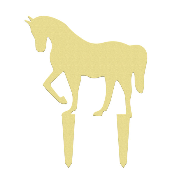 Unfinished outdoor DIY wooden yard art pattern horse sign