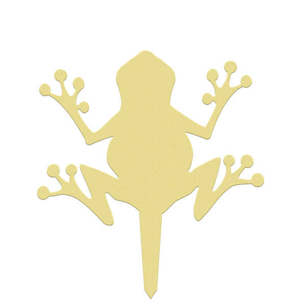 Unfinished outdoor DIY wooden yard art pattern frog sign