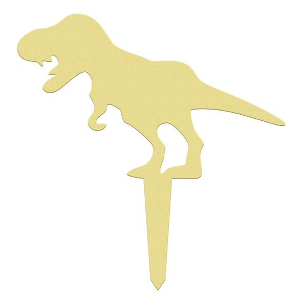 Unfinished outdoor DIY wooden yard art pattern dino t-rex 1 sign