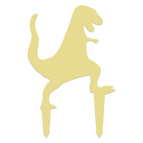 Unfinished outdoor DIY wooden yard art pattern dino t-rex 2 sign