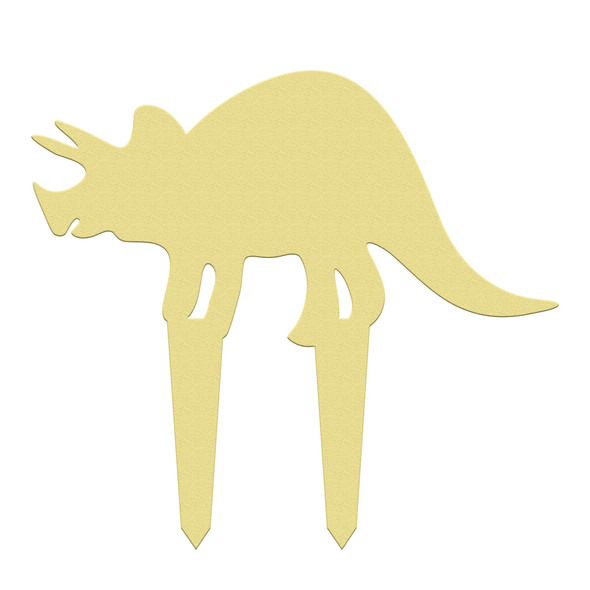 Unfinished outdoor DIY wooden yard art pattern dino triceratops sign