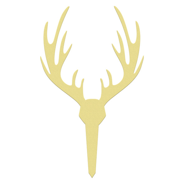 Outdoor yard signs wooden elk antler paintable DIY