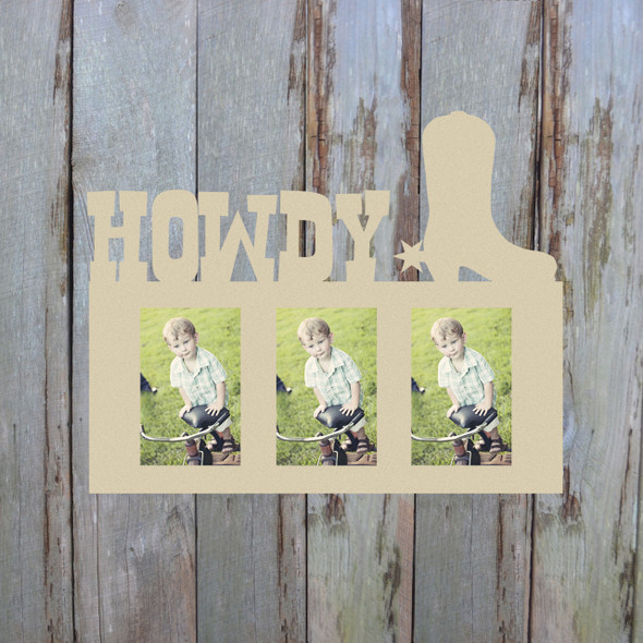 Howdy Photo Picture Frame Unfinished, DIY