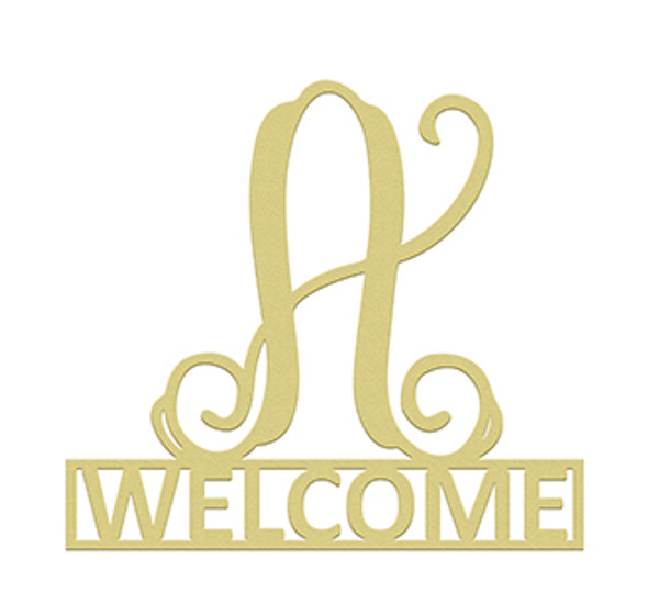 Monogram Family Name, Welcome Door Hanger,  Framed Monogram