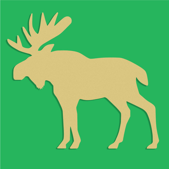 Moose Unfinished Cutout