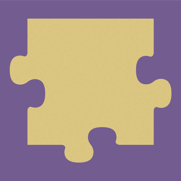 Puzzle Top Unfinished Cutout, Wooden Shape, Paintable Wooden MDF