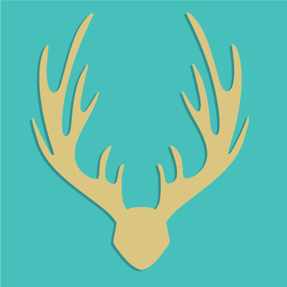 Elk Mount Unfinished Cutout, Wooden Shape, Paintable Wooden MDF