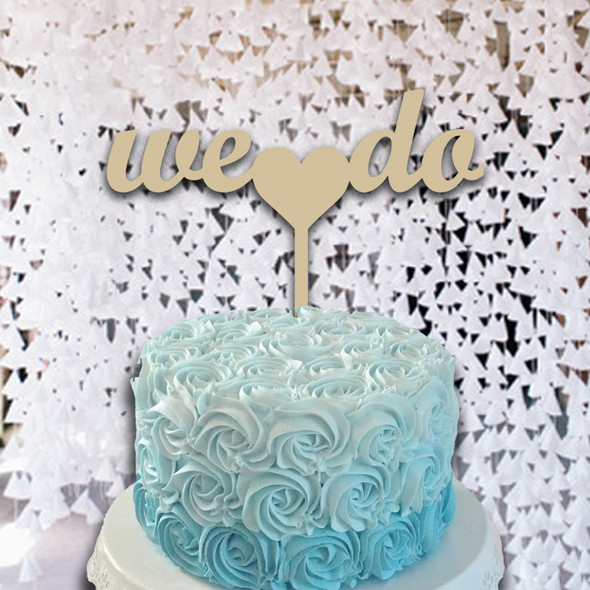 Cake Topper We Do Wooden Unfinished Uppercase Alphabet Letter, DIY
