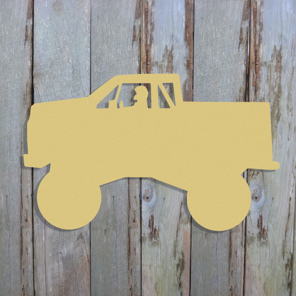 Monster Truck Unfinished Cutout, Wooden Shape, Paintable Wooden