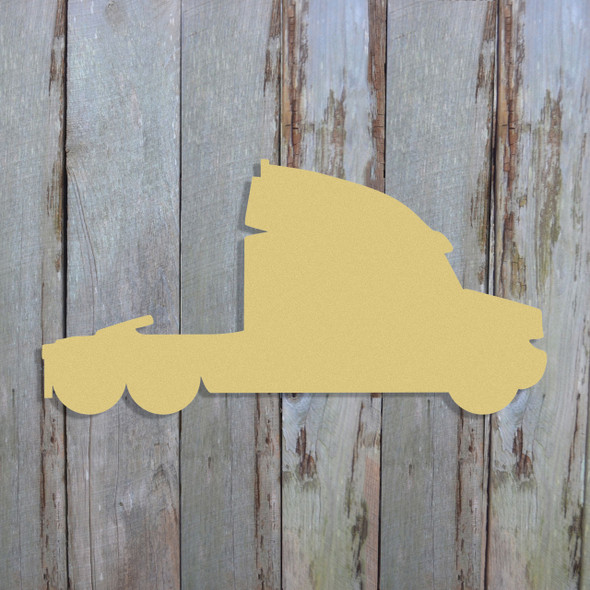Eighteen Wheeler Unfinished Cutout, Wooden Shape, Paintable Wooden MDF