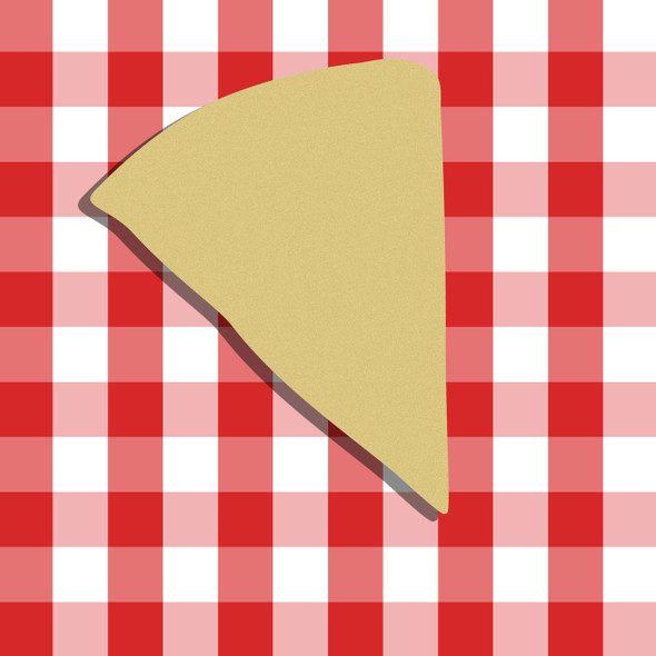 Pizza Unfinished Cutout, Wooden Shape, Paintable Wooden MDF