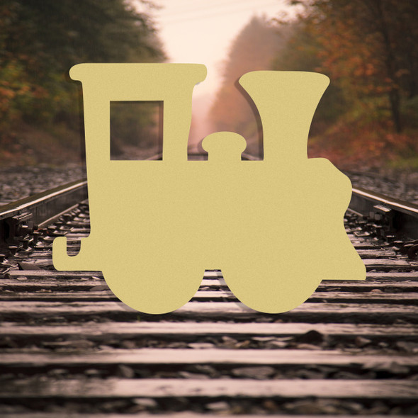 Train Engine Hook Up Unfinished Cutout Wooden Shape Paintable MDF Craft