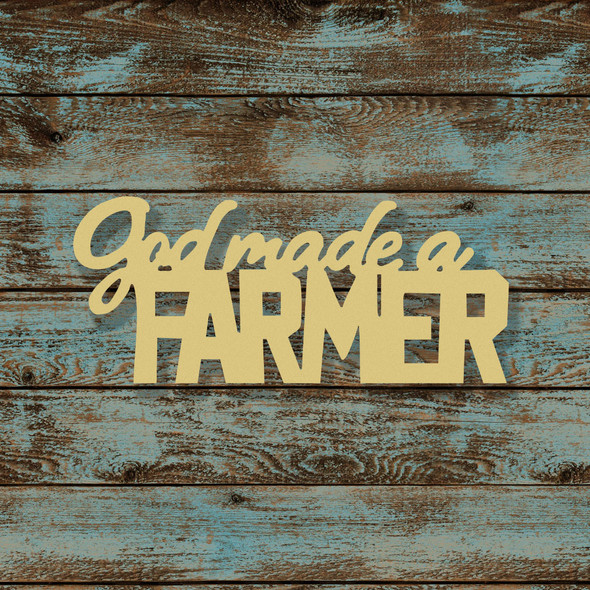 God Made a Farmer Word Unfinished Cutout, Wooden Shape, MDF