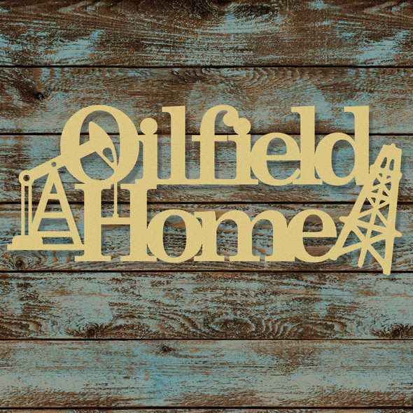 Oil Field Home Word Unfinished Cutout, Wooden Shape, MDF