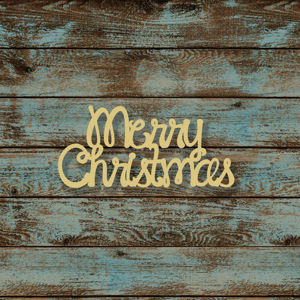 Merry Christmas Word Unfinished Cutout