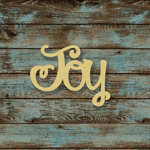 Unfinished Wooden Connected Curly Word, Joy, Alphabet Paintable DIY