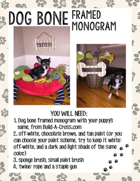 Dog Bone Framed Monogram Blog