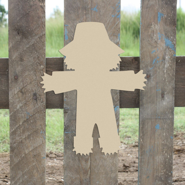 Scarecrow Unfinished Cutout Paintable Wooden MDF