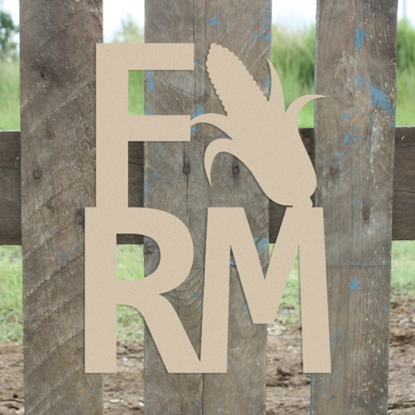 Farm Corn Sign Wall Art Wooden DIY Craft MDF, Wooden Letter Craft